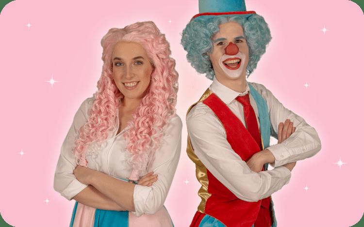 Clown Flop & Juf Sas' kinderfeestje