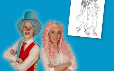 Maak jij een mooie tekening voor Clown Flop & Juf Sas?!